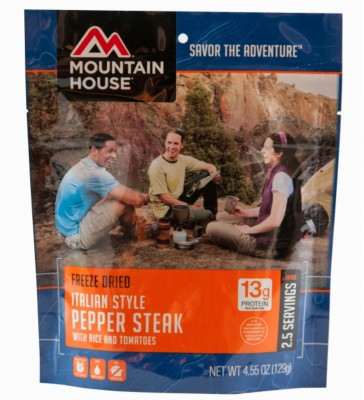 Mountain House Italian Style Pepper Steak Pouch Entrée