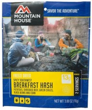 Mountain House Spicy Southwest Breakfast Hash Pouch Entrée