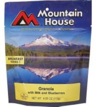 Mountain House Granola with Blueberries & Milk