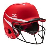 Mizuno MBH252 MVP Batters Helmet with Fastpitch Mask