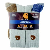 Carhartt Cold Weather Wool Blend Crew Socks 4-Pack