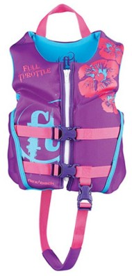 Youth Girls' Full Throttle Children's Rapid Dry Flex Life Vest