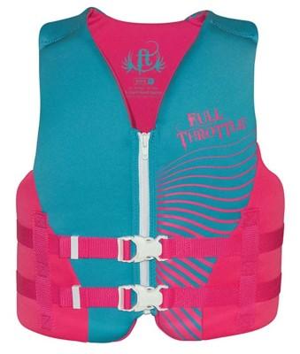 Youth Girls' Full Throttle Rapid-Dry Vest' data-lgimg='{