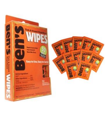 Adventure Medical Kits Ben's DEET Tick 7 Insect Repellent Wipes