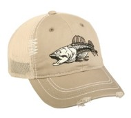 Men's Outdoor Fish Fossil Cap