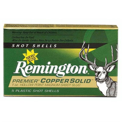 Remington Copper Solid Sabot 12ga 2.75 1oz Slug 5/bx