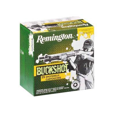 "Remington Express Buckshot 12ga 2.75"" 9 Pel #00 25/bx"