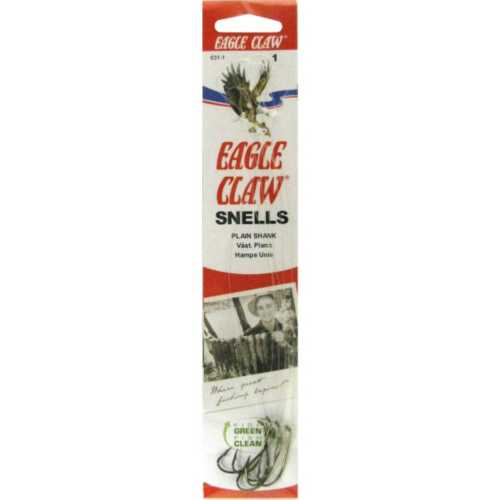 Eagle Claw Classic Snelled Plain Shank Hooks
