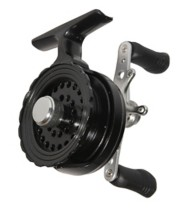 Eagle Claw Black In-Line Ice Fishing Reel