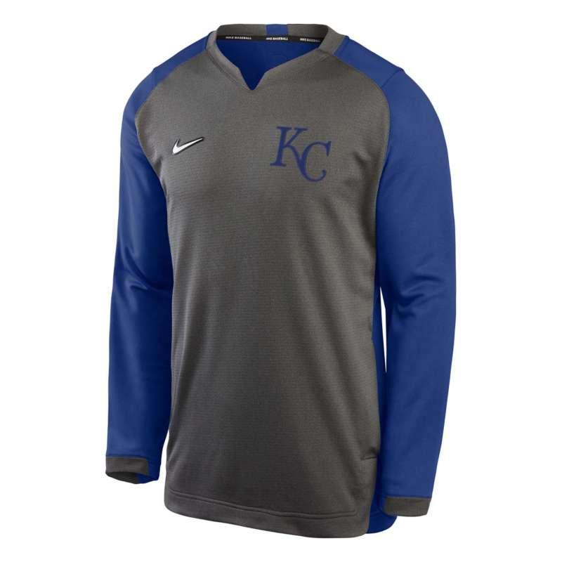 Nike Kansas City Royals Thermal Crewneck Sweatshirt