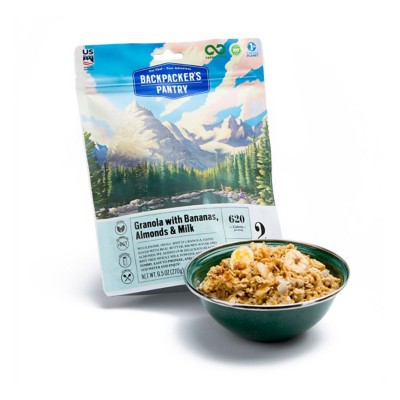 Backpacker's Pantry Granola with Bananas, Almonds, and Milk