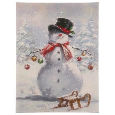 Raz Imports Snowman Lighted Print