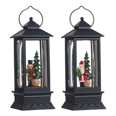Raz Imports Santa/Nutcrackers Lighted Water Lantern