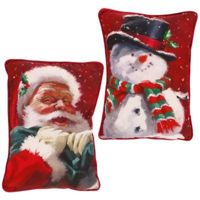 Raz Imports Santa/Snowman Pillows