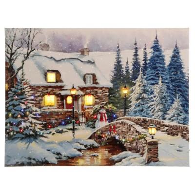 Raz Imports Winter Scene Lighted Print