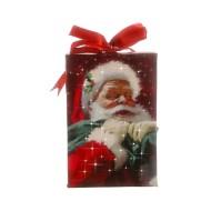 Raz Imports Santa Lighted Print Ornament