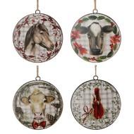 Raz Imports Assorted Farm Animal Ornaments