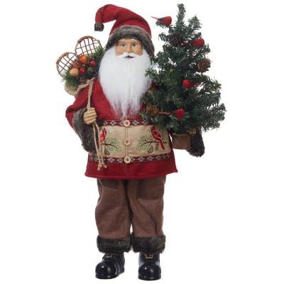Raz Imports Santa With Cardinal Jacket