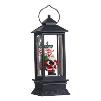 Raz Imports Santa Lighted Water Lantern