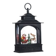 Raz Imports Santa In Sleight Lighted Water Lantern