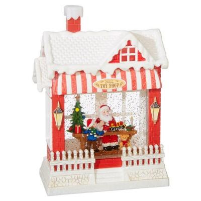 Raz Imports Santa'S Toy Shop Lighted Water House