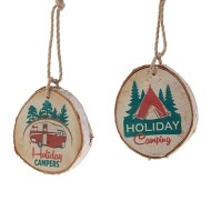 Raz Imports Assorted Holiday Camping Ornament