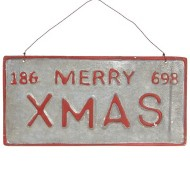 Raz Imports Merry Christmas License Plate
