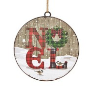 Raz Imports Noel Disc Ornament