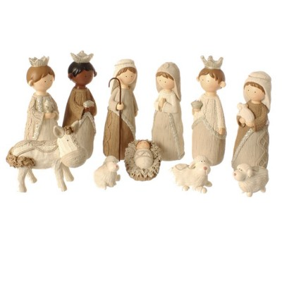 Raz Imports Wood Nativity Set