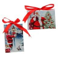 Raz Imports Assorted Santa Lighted Print Ornaments