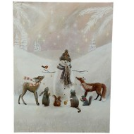 Raz Imports Snowman And Friends Lighted Print