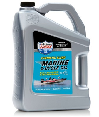Lucas Oil Synthetic Blend 2-Cycle Marine Oil 1 Gallon