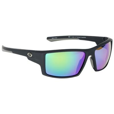 Strike King S11 Pickwick Polarized Sunglasses Black Green Mirror