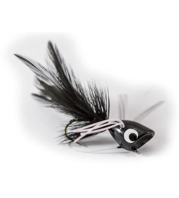 Umpqua Bass Popper with Legs Fly Lure Black