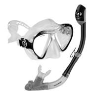 Adult U.S.  Divers Admiral 2 LX Mask Island Dry Snorkel Combo
