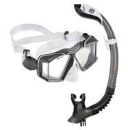 U.S. Divers Sideview II LX Mask and Paradise Dry II Snorkel Set