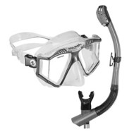 U.S. Divers LX Purge Mask and Phoenix Snorkel Set