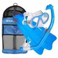 U.S. Divers Toucan PC Mask, Eco Jr. Snorkel, and Breaker Jr. Fin Set
