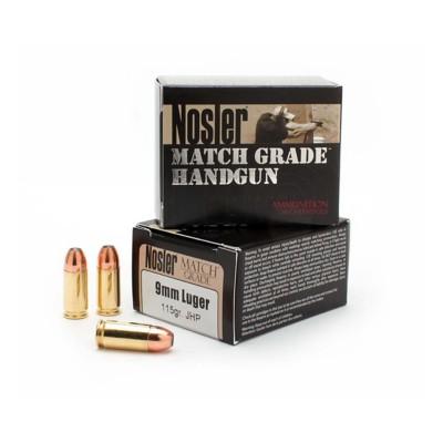 Nosler 9mm Luger JHP Match Grade Handgun Ammo 20 Count