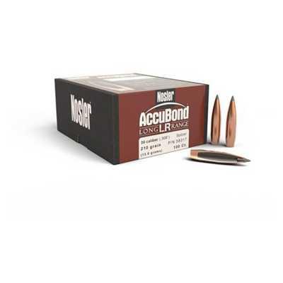Nosler Bullet AccuBond LR 30cal Spitzer 210gr 100/bx