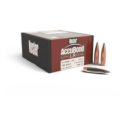 Nosler 30 Caliber 190 Grain AccuBond LR Bullet 100 Count