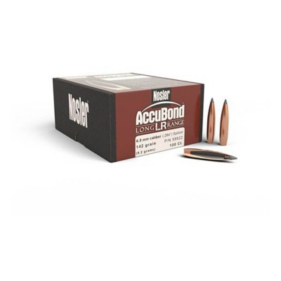 Nosler 6.5mm Caliber 142 Grain AccuBond LR Bullet 100 Count