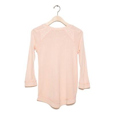 Grade School Girls' Silver Cutout Neckline Shirt