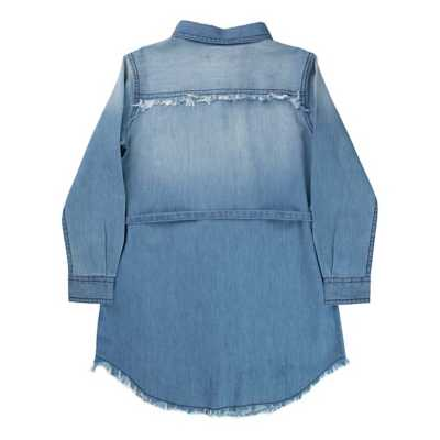 Girls' Silver Jeans Denim Button Down Dress