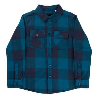 Boys' Silver Buffalo Check Button Down Long Sleeve Shirt