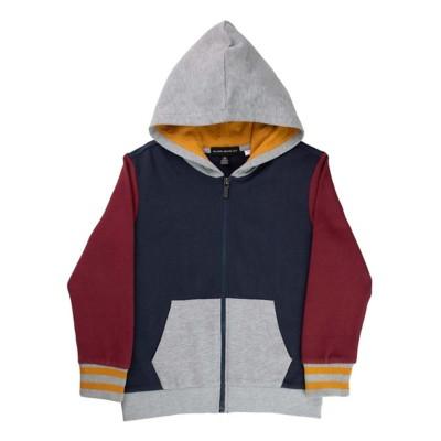 Grade School Boys' Silver Jeans Color Block Full Zip Hoodie