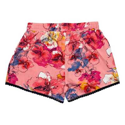 Girls' Silver Jeans Floral Short