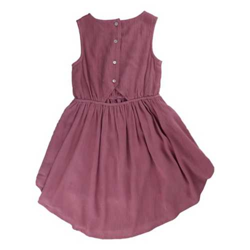 Girls' Silver Jeans Lace Top Cinched Dress