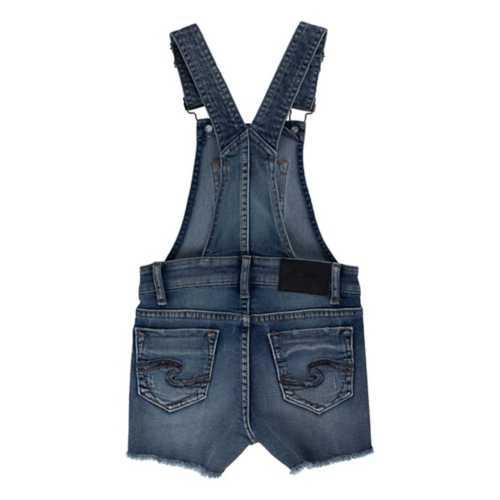 Girls' Silver Jeans Nisha Short Overalls