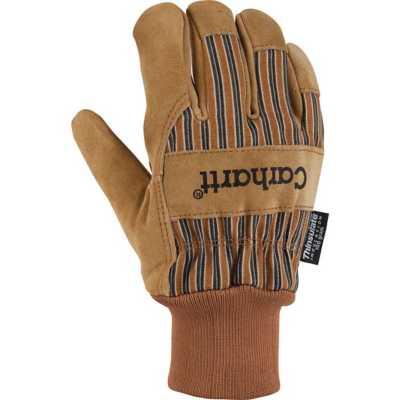 Men's Carhartt Insulated Suede Work Gloves Knit Cuff